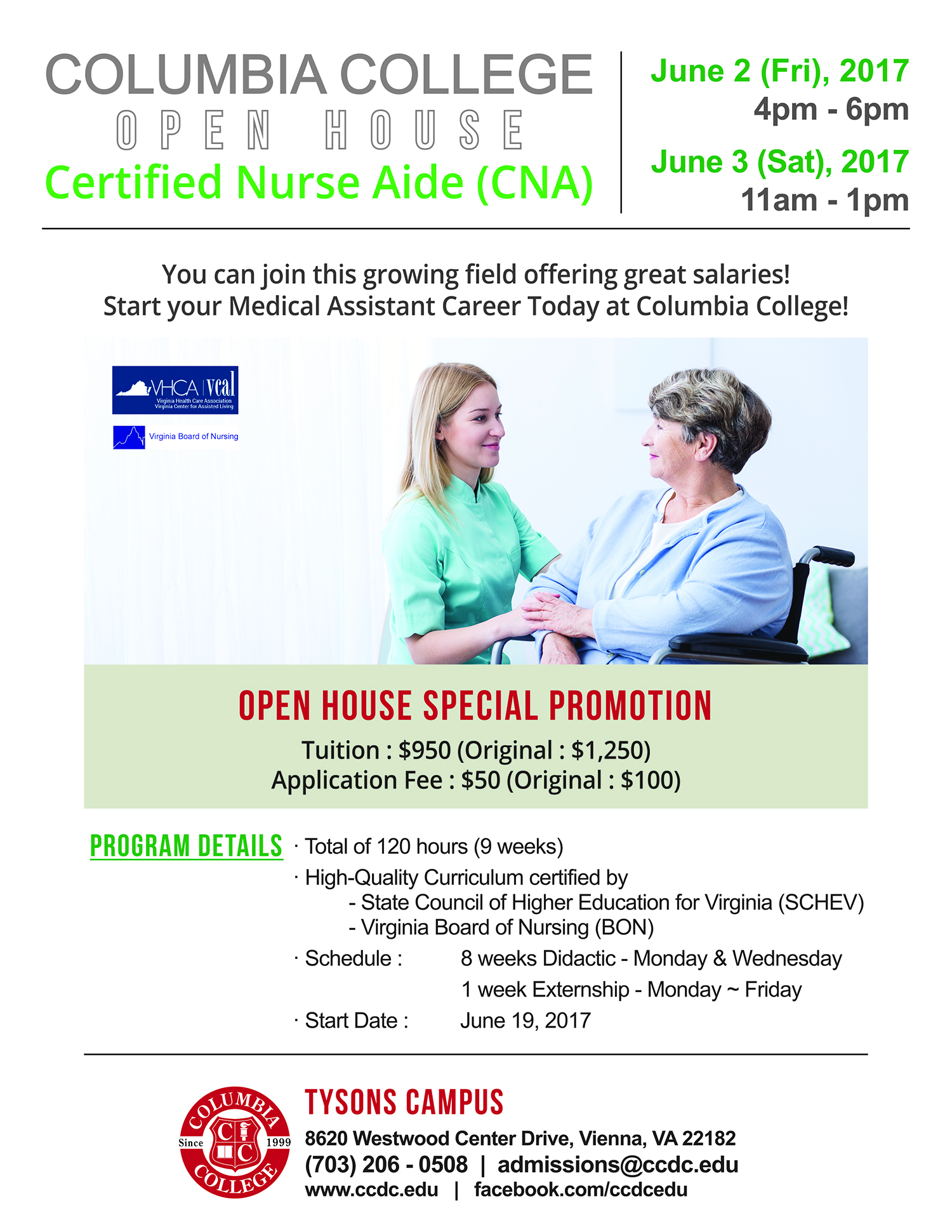 Elegant photos of cna online certification business cards and certified nurse aide cna open house columbia college xflitez Choice Image