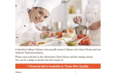 Culinary Arts Open House & Tasting Food Contest